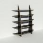 Bibliothèque en bois multiplis chants apparents - Stratifié noir - Rendu : largeur 1,65 m x hauteur 1,9 m