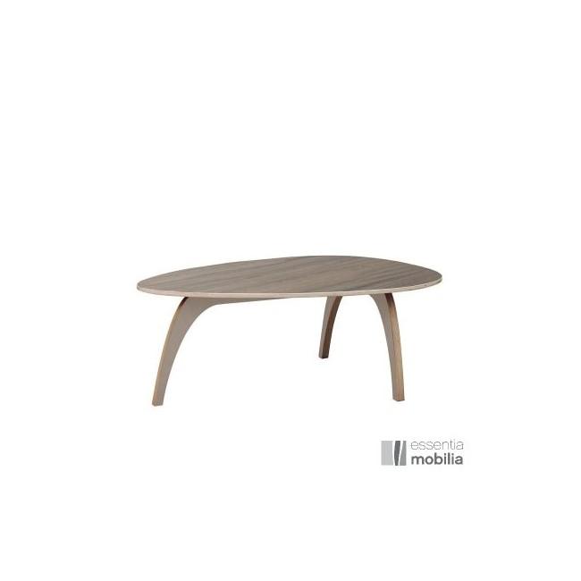 Table basse vintage années 50 - Bois multiplis placage noyer