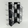 Etagère plexiglas et métal - Noir - Largeur 1,4 m x Hauteur 1,9 m