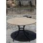 Table fer forgé et plateau marbre ou granit authentique sur mesure
