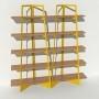 Bibliothèque placage chêne - Jaune - 2 m largeur x 2,05 m hauteur