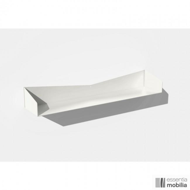 4 étagères murales - coloris blanc - largeur 96 cm - profondeur 20 cm