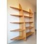 Grande Bibliothèque en bois sur mesure - Sur la photo : chêne massif vernis