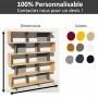 Bibliothèque bois et métal sur mesure personnalisable