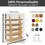 Bibliothèque en bois entièrement personnalisable