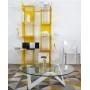 Table basse ronde 80 à 100 cm verre et métal - Etincelle