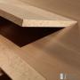 Détail sous-main - Bureau d'exception bois massif sur mesure