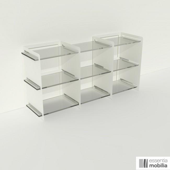 Meuble de rangement plexiglas et métal - Pix