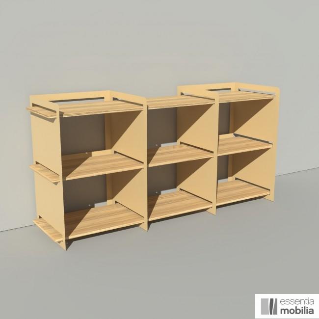 Meuble de rangement bois et métal - Pix