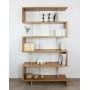 Bibliothèque bois et métal sur mesure - Photo : projet sur mesure bois massif, largeur 1,1 m