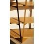 Bibliothèque bois et métal sur mesure Crescendo