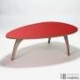 Table basse design vintage rouge années 50