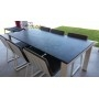 Table outdoor avec plateau granit Mystic Grey