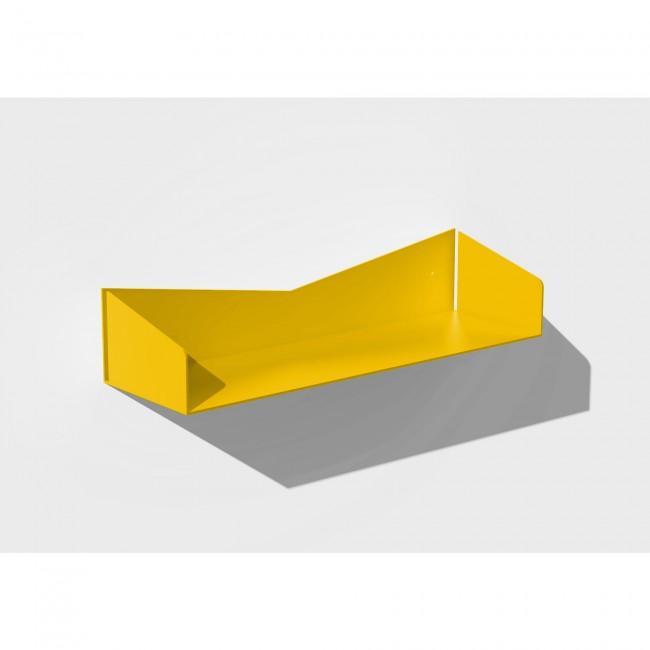 Etagère murale jaune 50 cm largeur - 15 cm profondeur