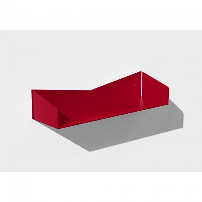Etagère murale rouge 50 cm largeur - 15 cm profondeur