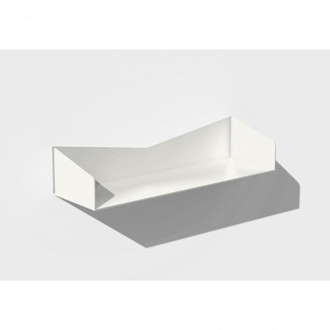 Etagère murale blanche 50 cm largeur - 15 cm profondeur