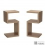 Double tables de chevet design en bois