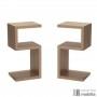 Ensemble de 2 tables de chevet design en bois