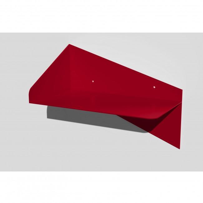 Table de chevet murale en métal - Rouge - Orientation vers la Droite
