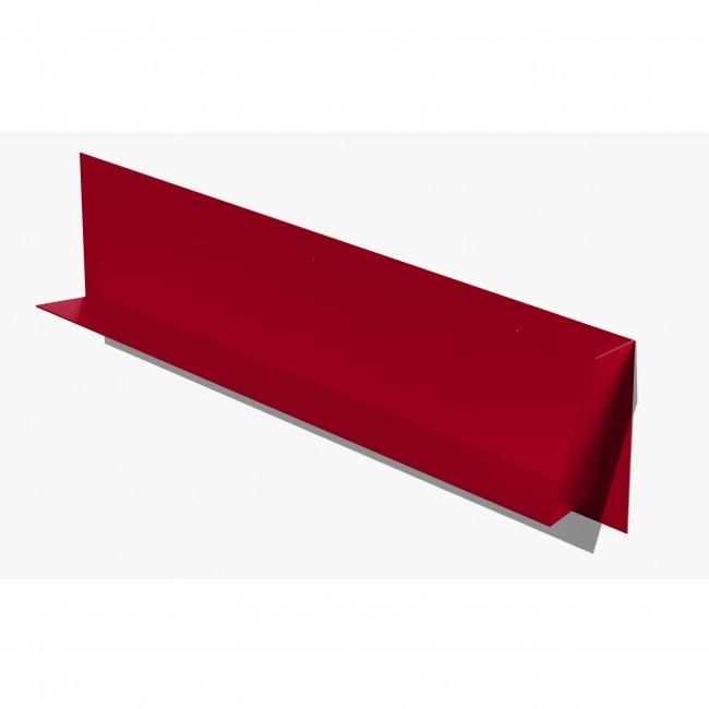Etagère murale inclinée 80 cm pour livres - Rouge - Orientation descendante