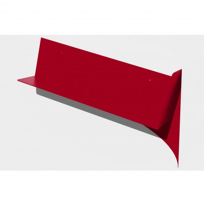 Etagère murale inclinée 60 cm pour livres - Rouge - Descendante
