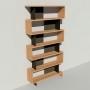 Bibliothèque bois et métal - Noir - Haut. 251 cm - Largeur rendu 130 cm