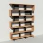 Bibliothèque bois et métal - Noir - Haut. 251 cm - Largeur rendu 185 cm