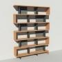 Bibliothèque bois et métal - Anthracite - Haut. 251 cm - Largeur rendu 185 cm