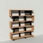 Bibliothèque bois et métal - Noir - Haut. 212 cm - Largeur rendu 185 cm