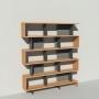Bibliothèque bois et métal - Anthracite - Haut. 212 cm - Largeur rendu 185 cm