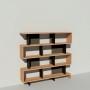 Bibliothèque bois et métal - Noir - Haut. 173 cm - Largeur rendu 185 cm