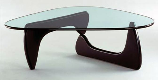 Table basse in 50 - coffee table de Isamu Noguchi - piètement frêne noir