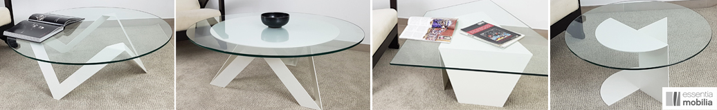 Tables basses blanches design