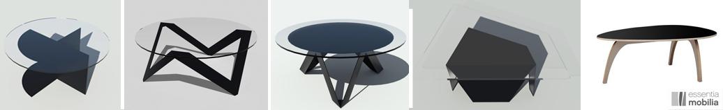 Tables basses noires